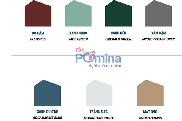 bảng màu tôn Pomina